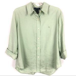 Vintage Lauren Ralph Lauren Linen Button Down Top